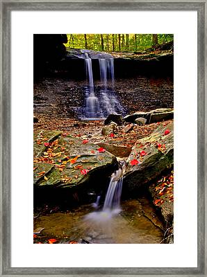 Blue Hen Falls Framed Print by Frozen in Time Fine Art Photography