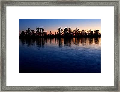 Framed Print featuring the photograph Blue Sunset by Scott Holmes