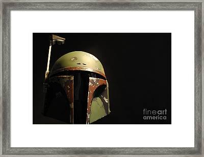 Boba Fett Helmet Framed Print by Micah May
