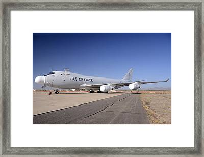 Boeing Yal-1a Airborne Laser Testbed Davis-monthan Afb April 15 2012 Framed Print by Brian Lockett