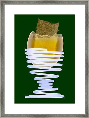 Boiled Egg In An Eggcup, X-ray Framed Print