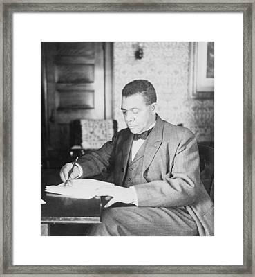 Booker T. Washington 1856-1915 Framed Print