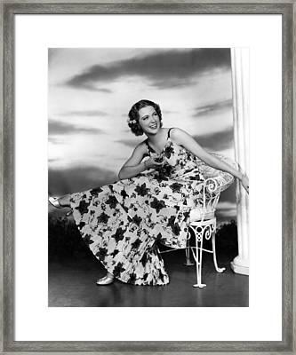Born To Dance, Eleanor Powell, 1936 Framed Print by Everett
