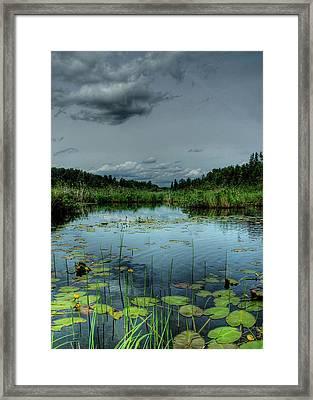 Bottomless Lake Framed Print by Heather  Rivet