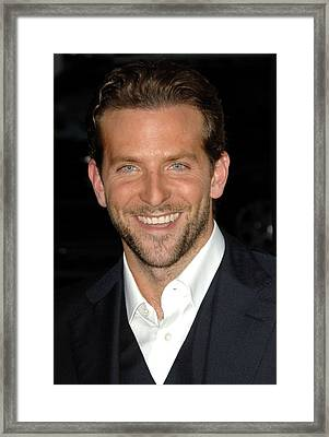 Bradley Cooper At Arrivals For All Framed Print by Everett