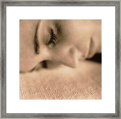 Braille Framed Print