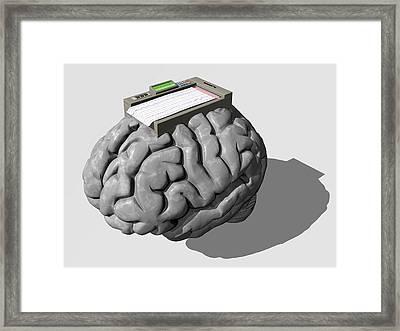 Brain Function, Conceptual Artwork Framed Print by Laguna Design