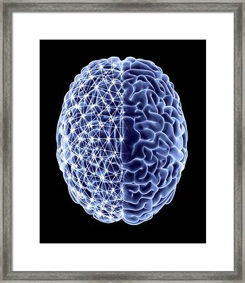 Brain, Neural Network Framed Print by Pasieka