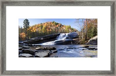 Bridal Veil Falls In Dupont State Park Nc Framed Print by Dustin K Ryan