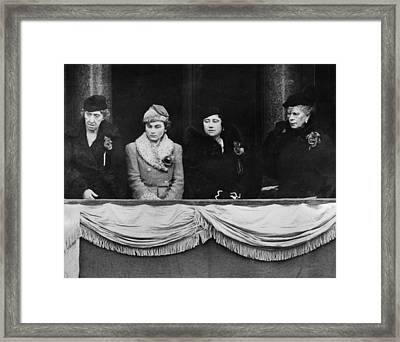 British Royal Family. From Left British Framed Print by Everett