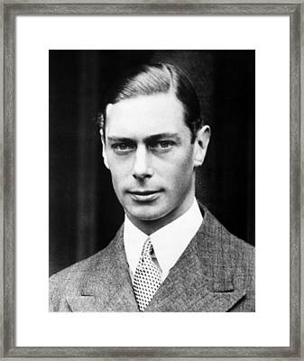 British Royalty. King George Vi Framed Print by Everett