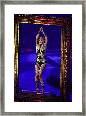 Britney Spears On Stage For The Circus Framed Print by Everett