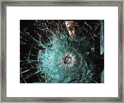 Bulletproof Glass Framed Print by Volker Steger