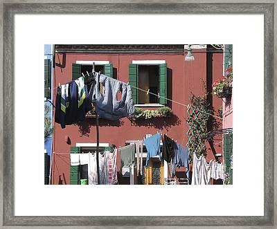 Burano. Venice Framed Print