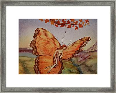 Framed Print featuring the painting Butterfly by Teresa Beyer