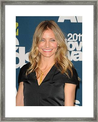 Cameron Diaz In The Press Room For The Framed Print