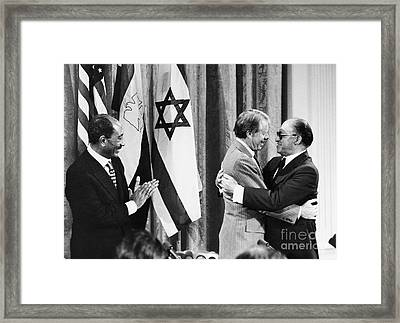 Camp David Summit, 1978 Framed Print by Granger