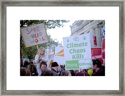 Campaign Against Climate Change March Framed Print by Victor De Schwanberg