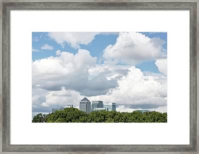 Canary Wharf Framed Print by Richard Newstead