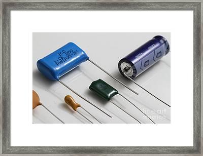 Capacitors Framed Print