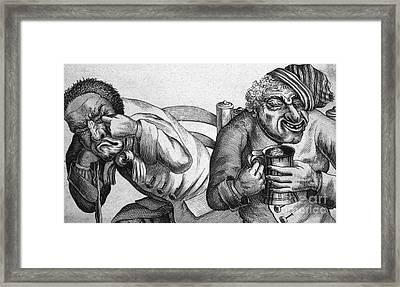Caricature Of Two Alcoholics, 1773 Framed Print by Science Source