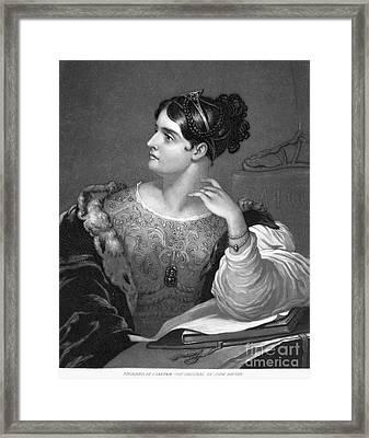 Caroline E. Norton Framed Print