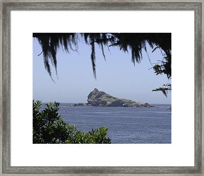 Framed Print featuring the photograph Castle Rock by Betty Depee