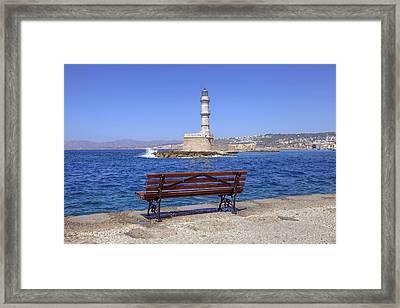 Chania - Crete Framed Print by Joana Kruse