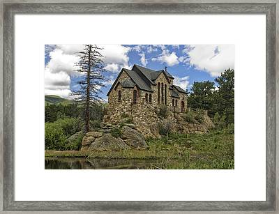 Chapel On The Rock Framed Print by Michael Krahl