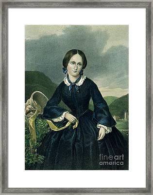 Charlotte Bront� Framed Print by Granger