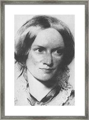 Charlotte Bronte, English Author Framed Print by Science Source