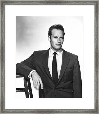 Charlton Heston, Paramount Pictures Framed Print by Everett