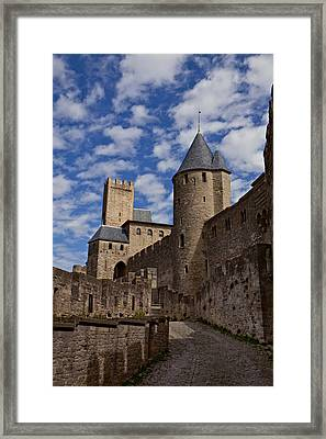 Chateau Comtal Of Carcassonne Fortress Framed Print by Evgeny Prokofyev