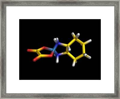 Chemotherapy Drug Molecule Framed Print by Dr Tim Evans