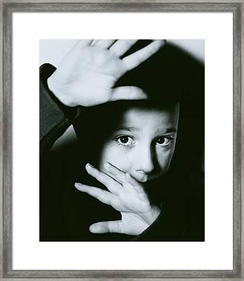Child Abuse Framed Print by Mauro Fermariello