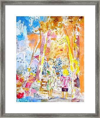Children Framed Print by Kostas Dendrinos