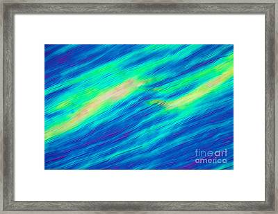 Cholesteric Liquid Crystals Framed Print by Michael Abbey and Photo Researchers