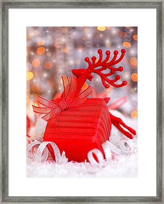 Christmas Gift Framed Print by Anna Om