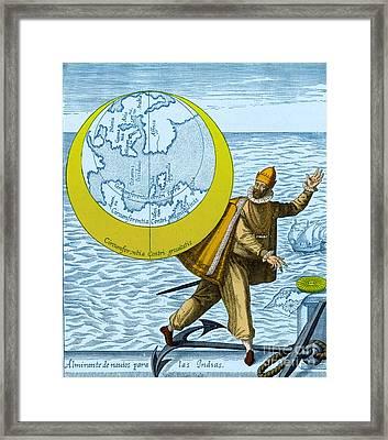 Christopher Columbus, Italian Explorer Framed Print