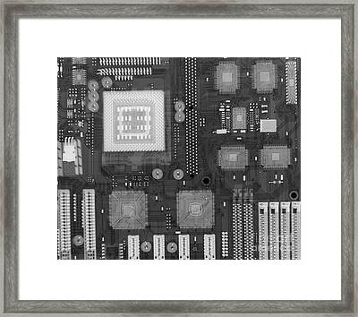 Circuit Board Framed Print by Ted Kinsman
