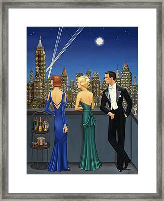 City Lights Framed Print by Tracy Dennison