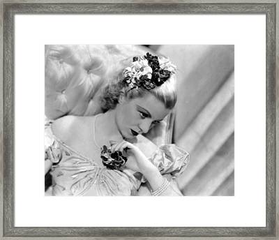 Claire Trevor, Portrait, 1936 Framed Print by Everett