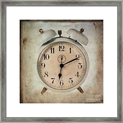 Clock Framed Print by Bernard Jaubert