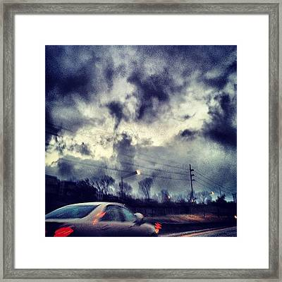 #cloudporncentral #sky  #sun  #nature Framed Print