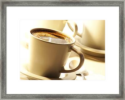 Coffee In Cup Framed Print