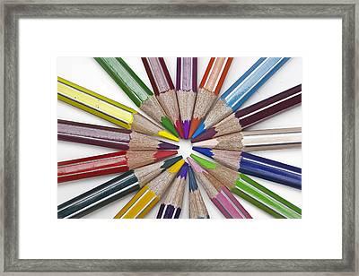 Coloured Pencil Framed Print