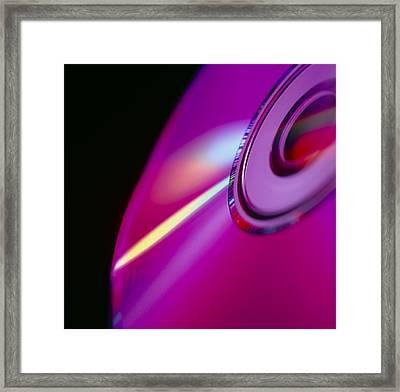 Compact Disc Framed Print by Tek Image