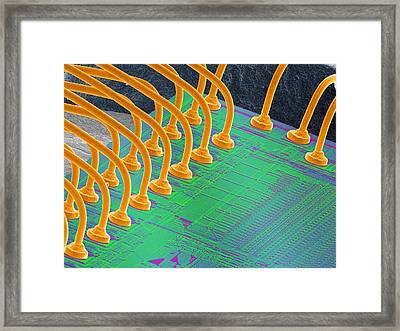 Computer Chip, Sem Framed Print by Power And Syred