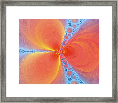 Computer-generated Julia Fractal Framed Print