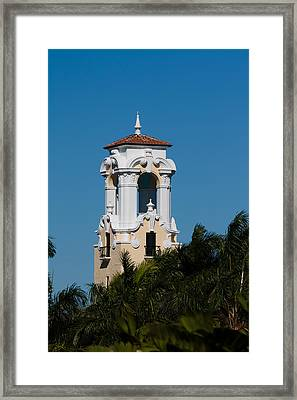 Framed Print featuring the photograph Congregational Church Tower by Ed Gleichman